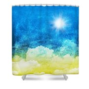 Cloud And Sky Shower Curtain