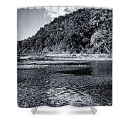 Cloud Over The River Shower Curtain