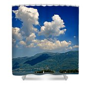Clouds And Mountain Shower Curtain