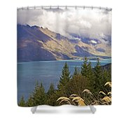 Clouds Over The Mountains Shower Curtain