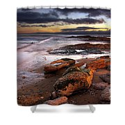 Coastline At Twilight Shower Curtain