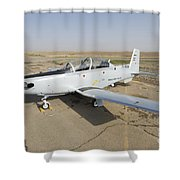Cob Speicher, Tikrit, Iraq - A T-6 Shower Curtain