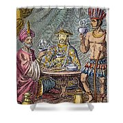 Coffee, Tea & Chocolate, 1685 Shower Curtain by Granger