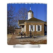 Colonial Williamsburg Courthouse Shower Curtain