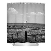 Colorado Crude - Bw Shower Curtain