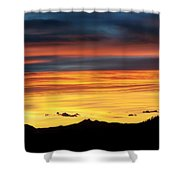 Colorado Sunrise Shower Curtain by Beth Riser
