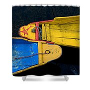 Colorful Boats, Srinagar, Dal Lake Shower Curtain