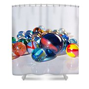 Colorful Marbles Shower Curtain