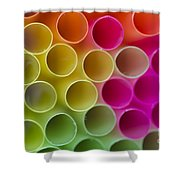 Colorful Straws Shower Curtain