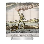 Colossus Of Rhodes Shower Curtain by Granger
