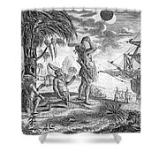 Columbus: Jamaica, 1504 Shower Curtain