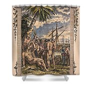 Columbus: Native Americans Shower Curtain