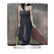 Concrete Velvet 3 Shower Curtain by Donna Blackhall