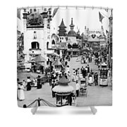 Coney Island: Luna Park Shower Curtain