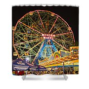 Coney Island Shower Curtain