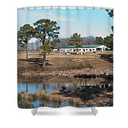 Conversations On The Hill Shower Curtain