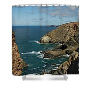 Cornish Seascape St Agnes  Shower Curtain