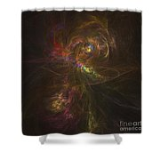 Cosmic Image Of A Colorful Nebula Shower Curtain