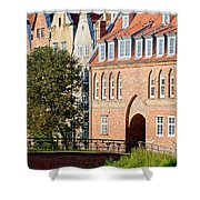 Cow Gate In Gdansk Shower Curtain