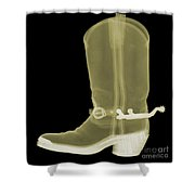Cowboy Boot X-ray Shower Curtain