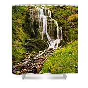 Crater Lake Falls Shower Curtain