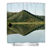 Cromwell Dam Reflections Shower Curtain