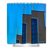 Crosses Of Livingway Church Shower Curtain