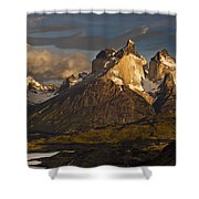 Cuernos Del Paine And Lago Pehoe Shower Curtain