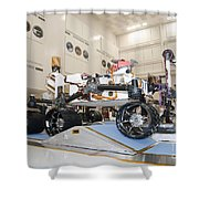 Curiosity Rover In The Testing Facility Shower Curtain