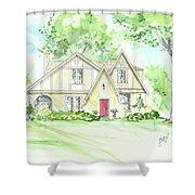 Custom House Rendering Sample Shower Curtain