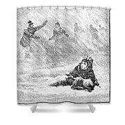 Dakota Blizzard, 1888 Shower Curtain by Granger