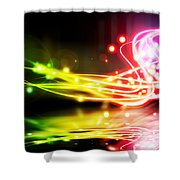 Dancing Lights Shower Curtain