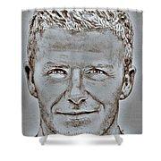David Beckham In 2009 Shower Curtain