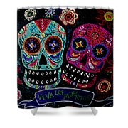 Day Of The Dead Couple Shower Curtain