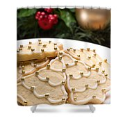 Decorated Cookies In Festive Setting Shower Curtain