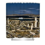 Delos Island Shower Curtain