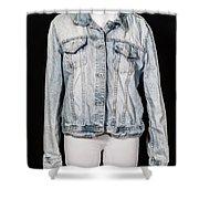 Denim Jacket Shower Curtain
