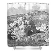 Desert Hikers Shower Curtain
