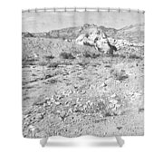 Desert Washout Shower Curtain