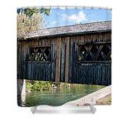 deShutes River Bridge Shower Curtain