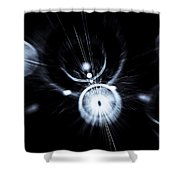 Digital Speed Art Shower Curtain