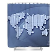 Digitally Generated Image Of The World Shower Curtain
