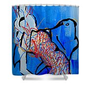 Dinka Corset - Manlual - South Sudan Shower Curtain