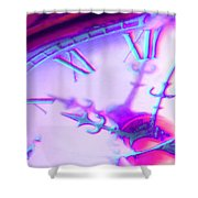 Distorted Time Shower Curtain