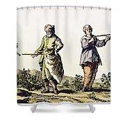Divining Rod, 17th Century Shower Curtain