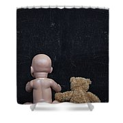 Doll And Bear Shower Curtain
