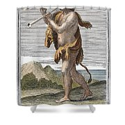 Double Aulos Shower Curtain