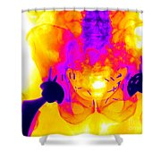 Double Hip Replacement Shower Curtain