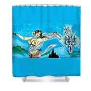 Dragon Dancer Shower Curtain