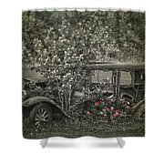 Driven To Find Love  Shower Curtain